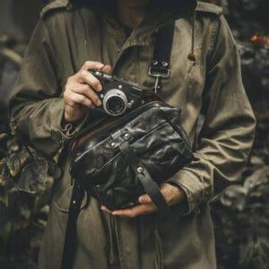 กระเป๋าหนังใส่กล้อง Wotancraft Mini Rider Black Leather