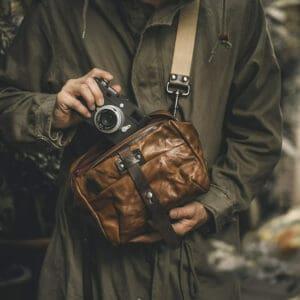 กระเป๋ากล้องหนัง Wotancraft Mini Rider Brown Leather