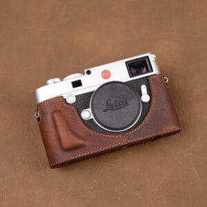 เคส Leica M10 สีน้ำตาล เจาะช่องแบต จาก VR Studio
