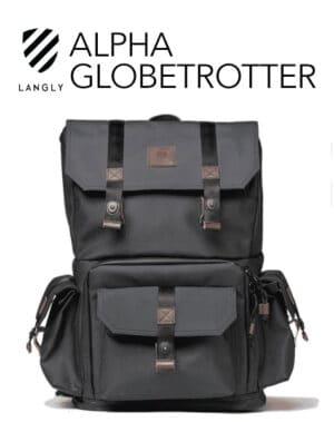 กระเป๋าเป้ใส่กล้อง Langly Alpha Globetrotter สีดำน้ำตาล