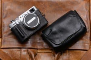 ซองหนัง Fuji X100V Leica Minilux Pouch หนังแท้