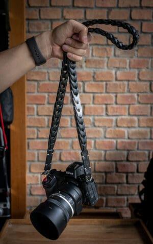 สายคล้องกล้องหนัง Nishikawa สีดำเทา S784(L) ใหญ่