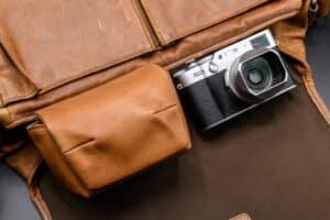 กระเป๋าหนัง Fuji X100V สีน้ำตาล