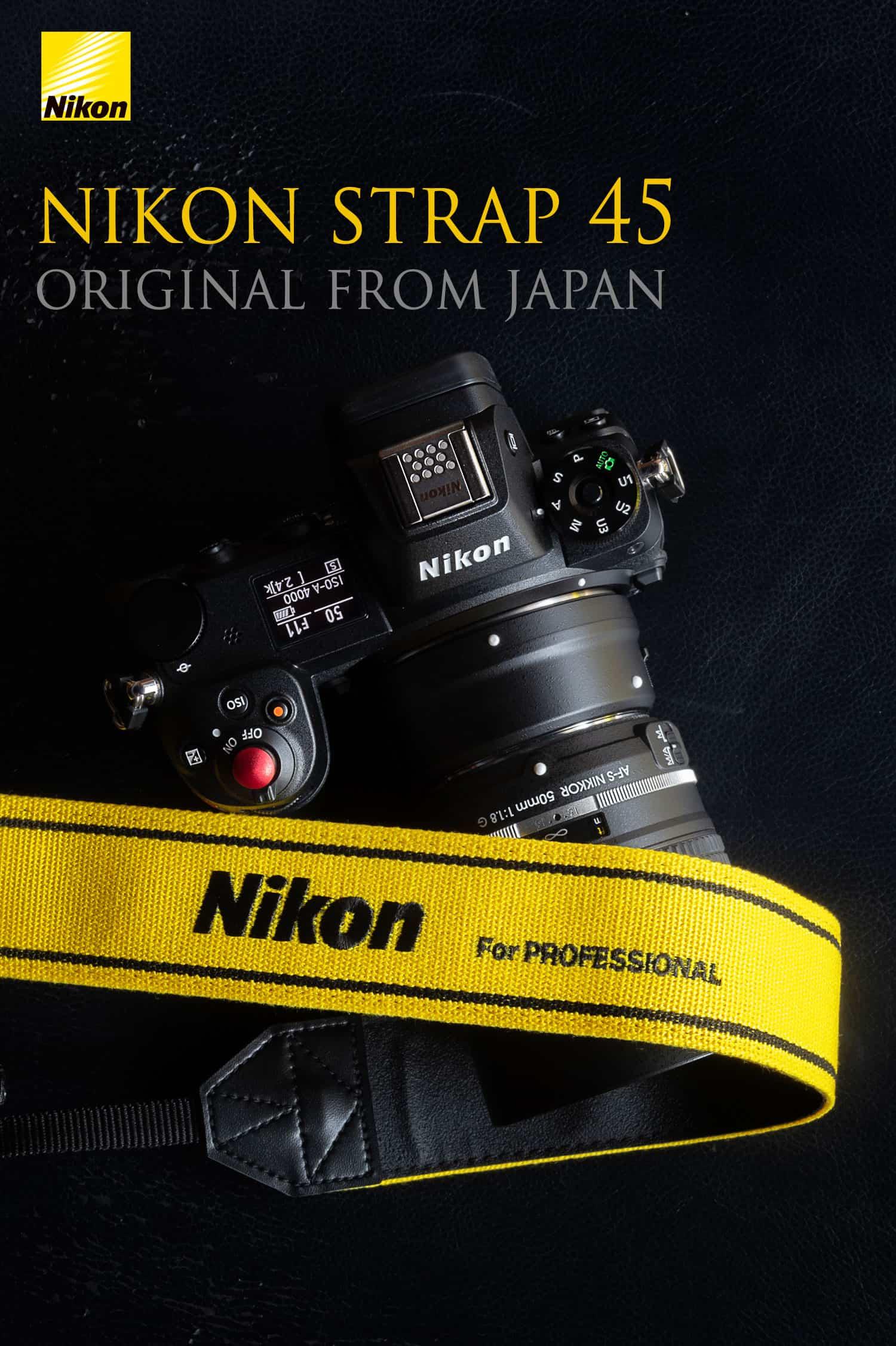 สายคล้องกล้อง Nikon สีเหลือง Strap 45