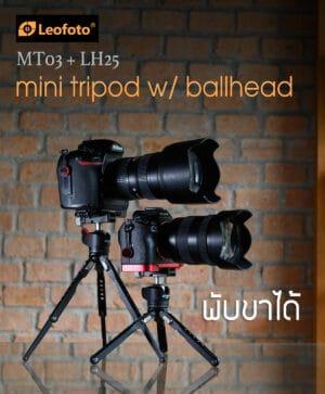 ขาตั้งกล้องพกพา LeoFoto MT03 พร้อมหัวบอล LH25