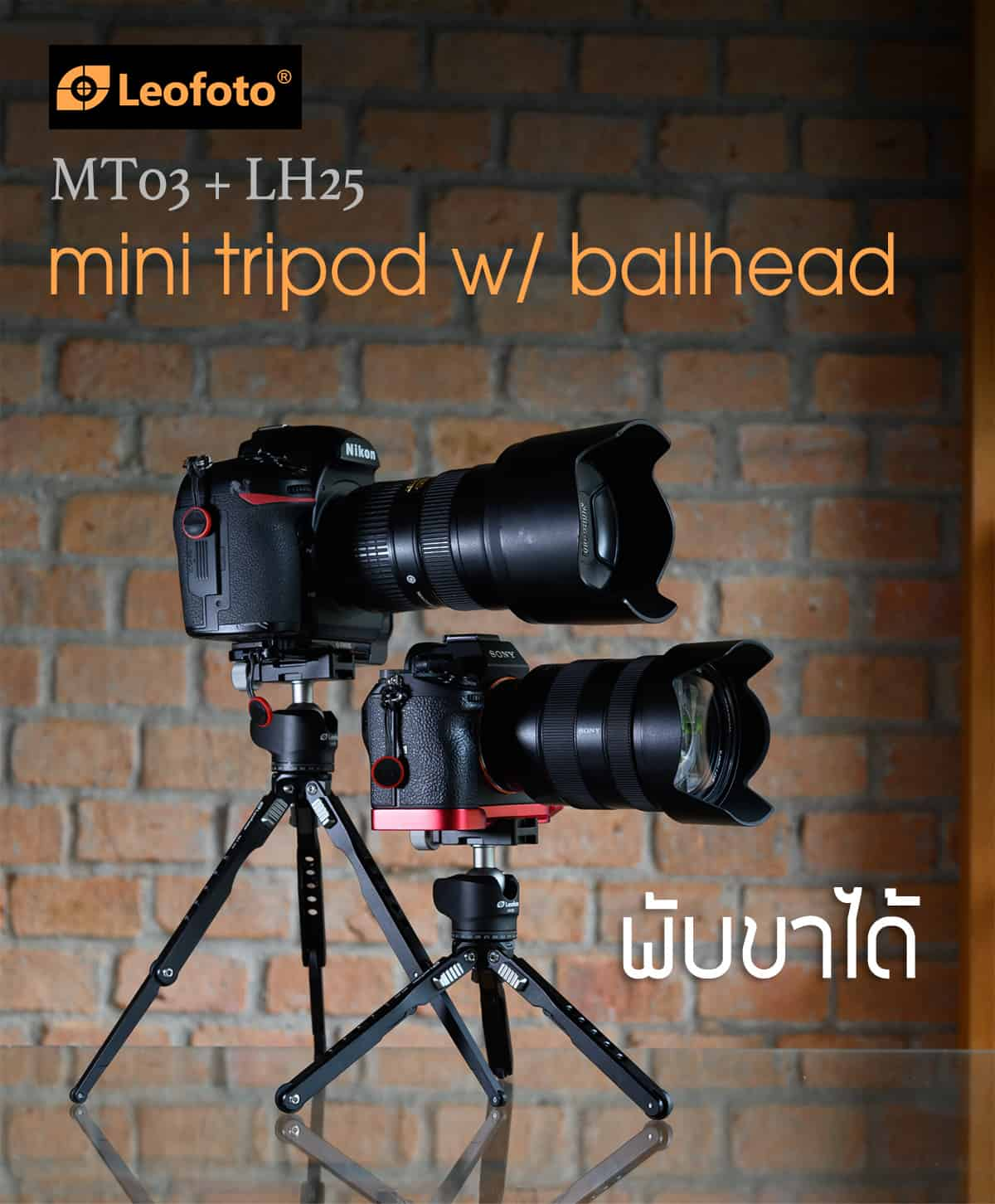 ขาตั้งกล้องพกพา LeoFoto MT03