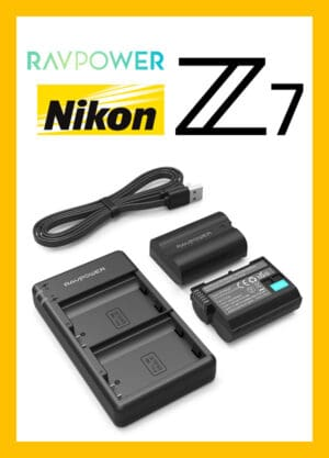 RAVPower USB Battery Charger Nikon EN-EL15 for Nikon Z5 Z6II Z7II Z6 Z7