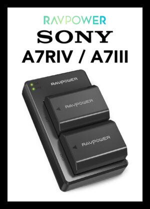 ที่ชาร์จแบต RAVPower USB Battery Charger Sony NP-FZ100 for Sony A7C A7RIV A9II A7III A7RIII A9 A7SIII