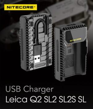 Nitecore ULSL Leica Q2 SL2 SL2S SL Battery Charger