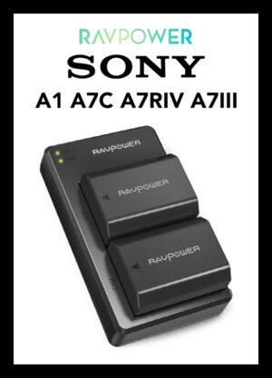 ที่ชาร์จแบต RAVPower USB Battery Charger Sony NP-FZ100 for Sony A1 A7C A7RIV A9II A7III A7RIII A9 A7SIII