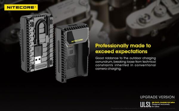 NITECORE ULSL ที่ชาร์จแบบ USB สำหรับ Leica Q2 SL2 SL