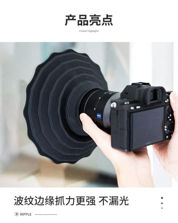 Flexible Lens Hood ซิลิโคน ช่วยป้องกันการเกิดแสงสะท้อน