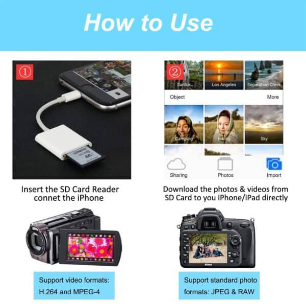 Memory SD Card Reader For iOS devices