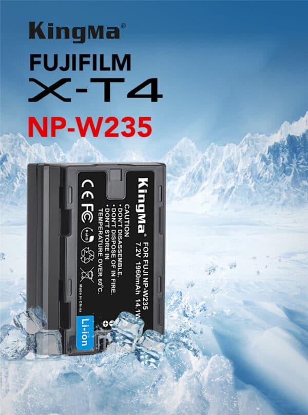 แบตเตอรี่ Fuji XT4 NP-W235 แบตเทียบ Kingma