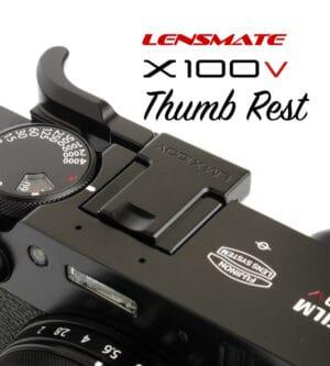 ที่พักนิ้ว Fuji X100V สีดำ Lensmate Thumb Rest Black