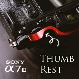 ที่พักนิ้ว Thumb Rest Sony A7III สีแดง