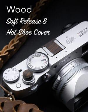 ปุ่มชัตเตอร์ไม้ และ ที่ปิดช่องแฟลชไม้ จาก King Soft Release & Hot Shoe Cover