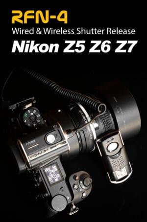 สายลั่นชัตเตอร์ Nikon Z5 Z6II Z7II Z6 Z7 แบบรีโมทไร้สาย RFN4 Wireless Shutter Release