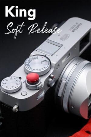 ปุ่มกดชัตเตอร์ King สีแดง Soft Release Fuji XE4 X100V X100F XPRO3 XPRO2 XT4 XT3 XT30 XT20 XE3
