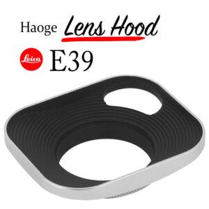 ฮูด Leica E39 สีเงิน Leica Lens Hood