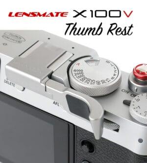 ที่พักนิ้ว Fuji X100V สีเงิน Lensmate Thumb Rest Silver