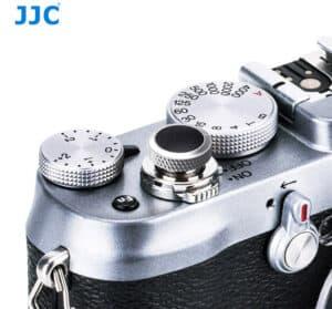 ปุ่มกดชัตเตอร์ JJC เงินดำ Deluxe Soft Release Silver-Black