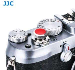 ปุ่มกดชัตเตอร์ JJC เงินแดง Deluxe Soft Release Silver-Red