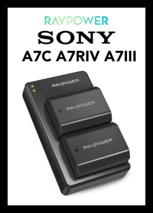 ที่ชาร์จแบต RAVPower USB Battery Charger Sony NP-FZ100 for Sony A7C A7RIV A9II A7III A7RIII A9 A7SIII