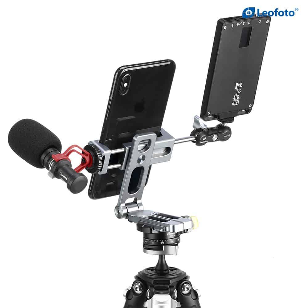 แคลมป์จับและที่ตั้งมือถือ LeoFoto Smart Phone Holder PS2