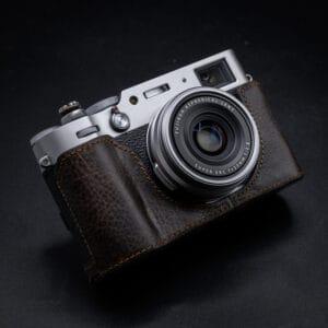 เคสหนัง Vintage Fuji X100V สีน้ำตาล