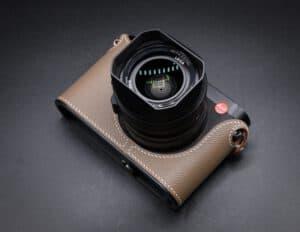 Leather Case Leica Q2 Beige Premium Edition เคสหนังแท้ สีบีจ
