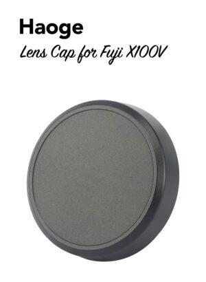 ฝาครอบเลนส์ Fuji X100V สีดำ Haoge CAP-X54B