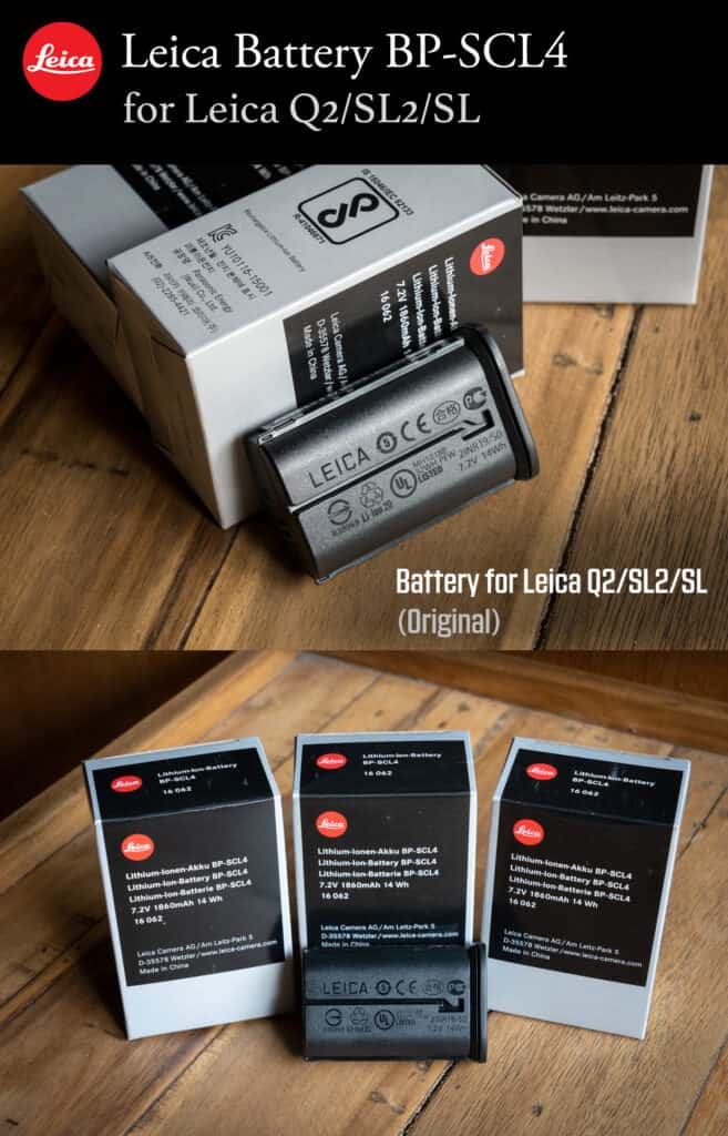 BP-SCL4 Leica Q2 Battery