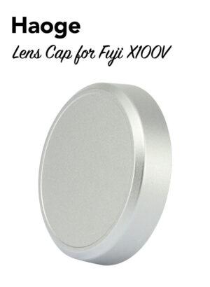 ฝาครอบเลนส์ Fuji X100V สีเงิน Haoge CAP-X54W