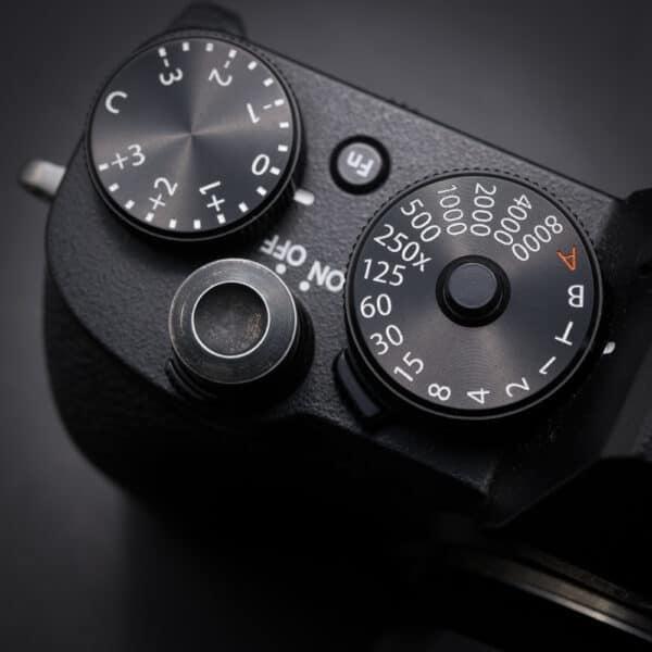 ปุ่มชัตเตอร์กล้อง Vintage Black Aluminum อลูมิเนียมรมดำ