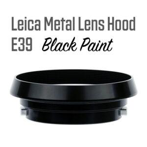 Leica Lens Hood E39 Black Paint Gabale