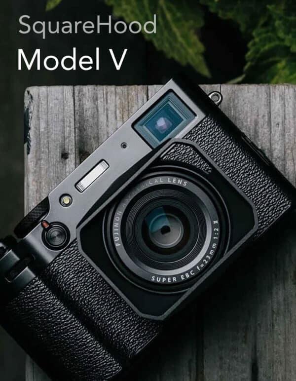 SquareHood Model V Fuji X100V สีดำ ฮูดเหลี่ยม พร้อม Adapter Ring