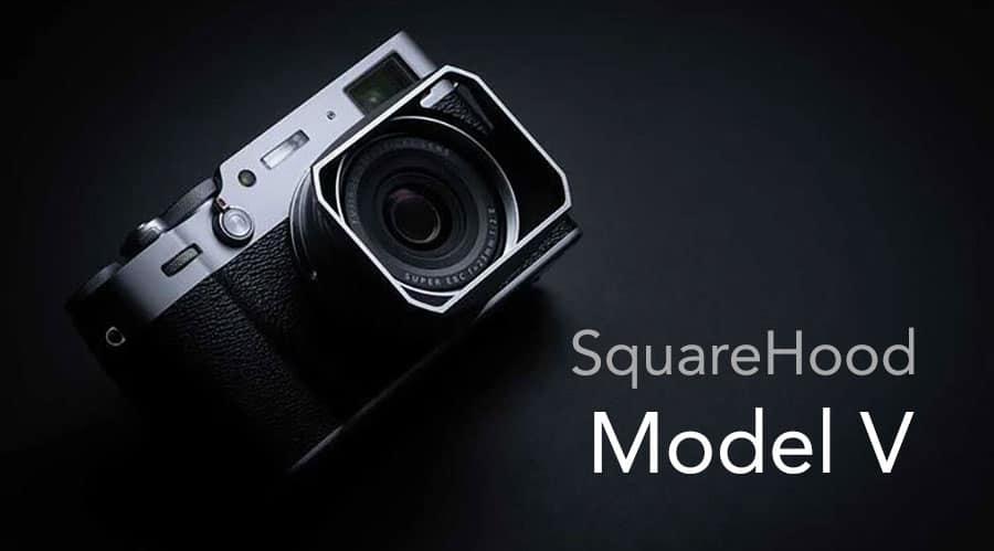 SquareHood Model V Fuji X100V สีเงิน ฮูดเหลี่ยม พร้อม Adapter Ring