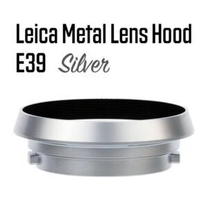 Leica Lens Hood E39 Silver Gabale