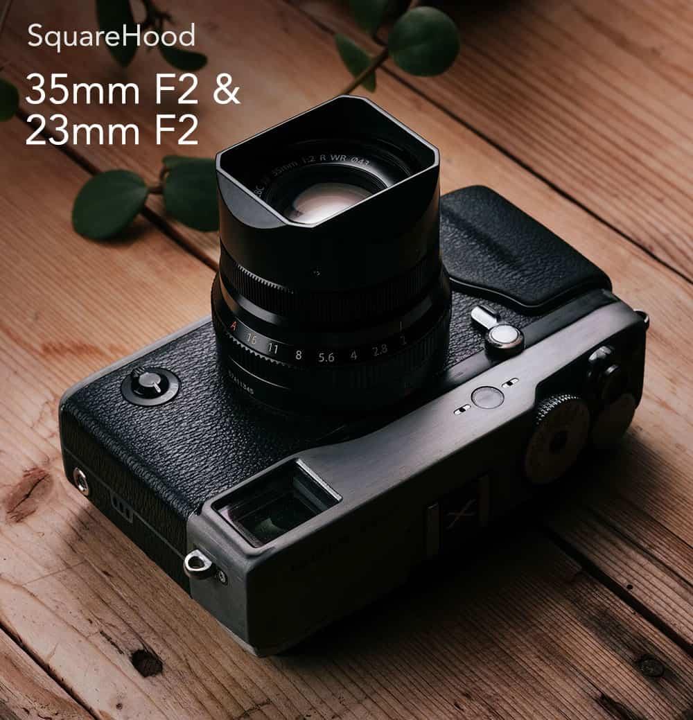 SquareHood Fuji 23mm F2 / 35mm F2 ฮูดเหลี่ยม
