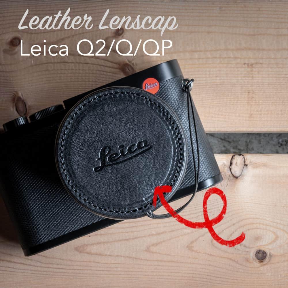 ฝาปิดเลนส์ Leica Q2 Q QP Leather Lens Cap