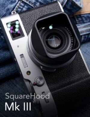 SquareHood MKIII Fuji X100V สีดำ ฮูดเหลี่ยม พร้อม Adapter Ring