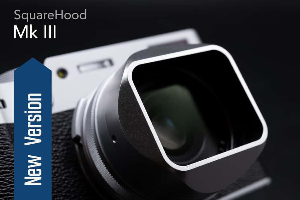 SquareHood MKIII Fuji X100V สีเงิน ฮูดเหลี่ยม พร้อม Adapter Ring