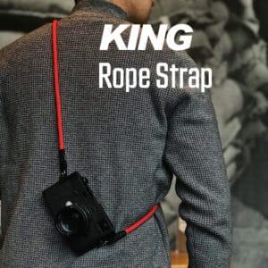 สายคล้องกล้องเชือก สีแดง King