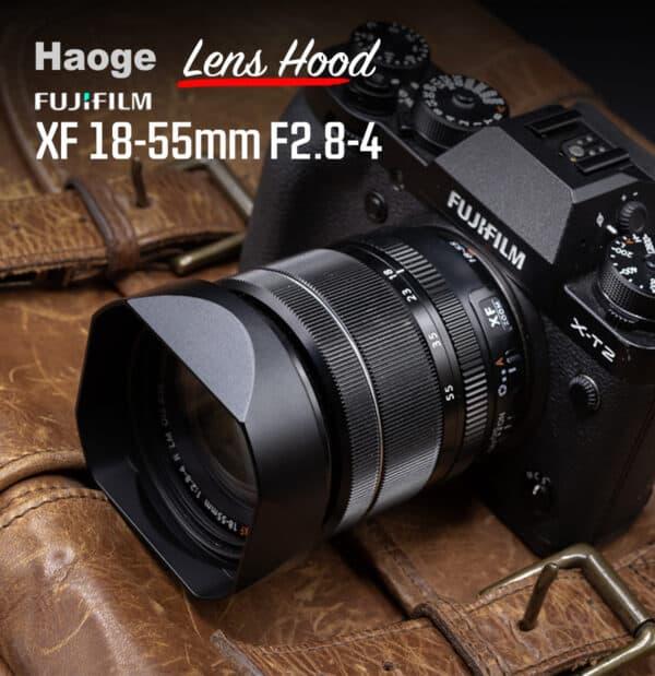 ฮูด Fuji 18-55mm f2.8-4 จาก Haoge Lens Hood LH-X13B
