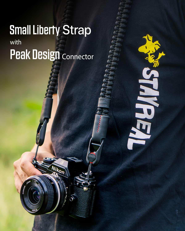 สายคล้องกล้อง Small Liberty Black Large เส้นใหญ่ พร้อมหัวต่อ Peak Design