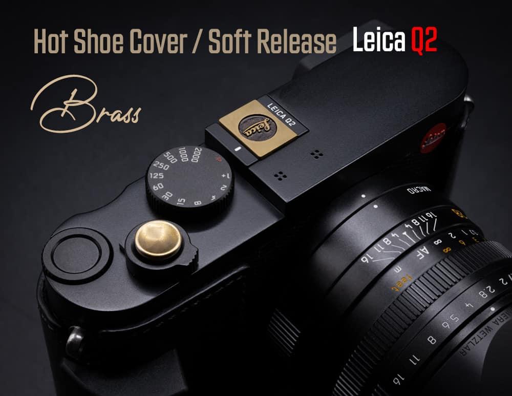 ปุ่มกล้องทองเหลืองรมดำ Vintage Brass Soft Release Button แบบ Sticker