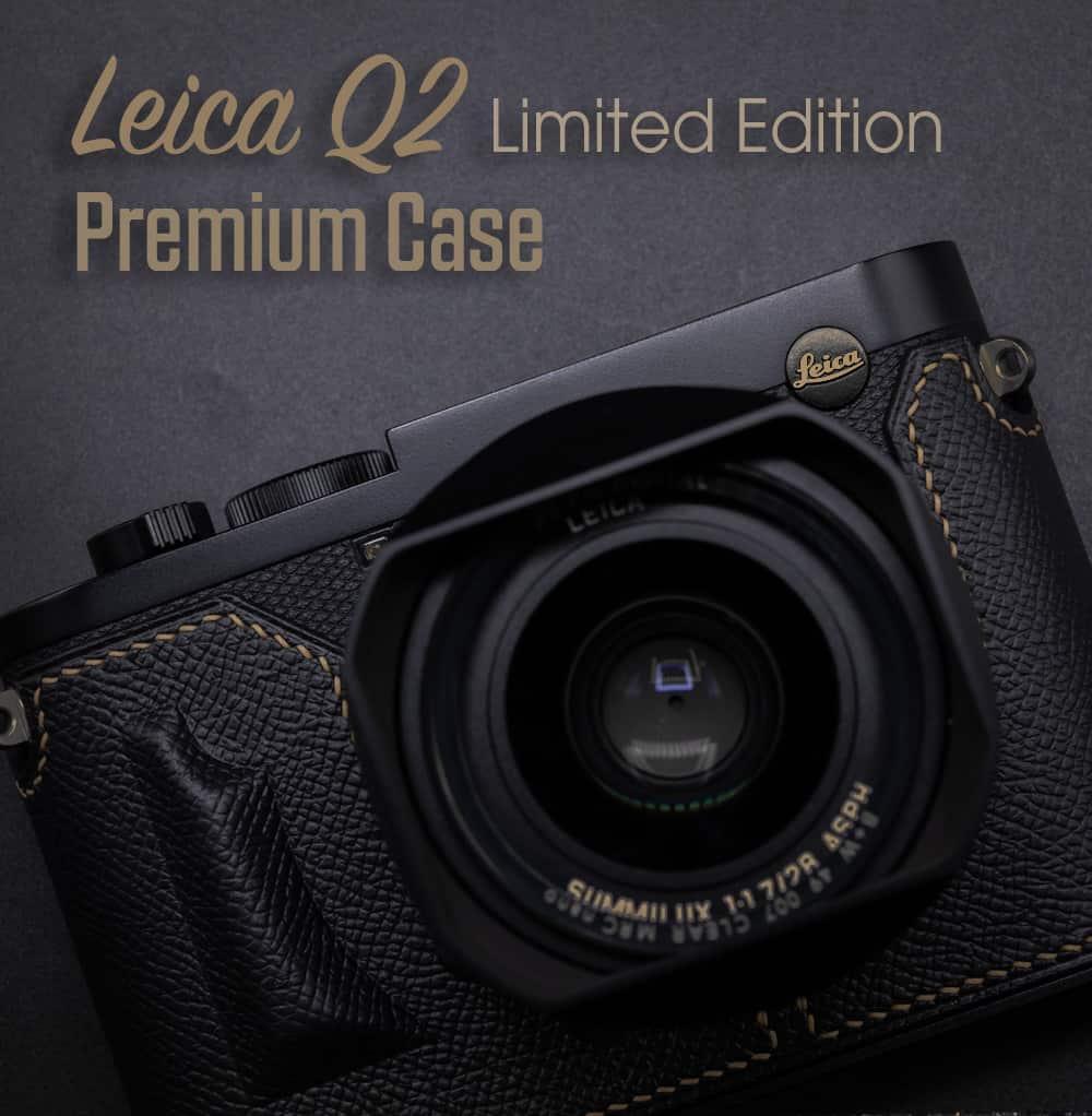 Leather Case Leica Q2 Black/Gold Premium Edition เคสหนัง สีดำทอง สำหรับ Leica Q2 Limited Edition