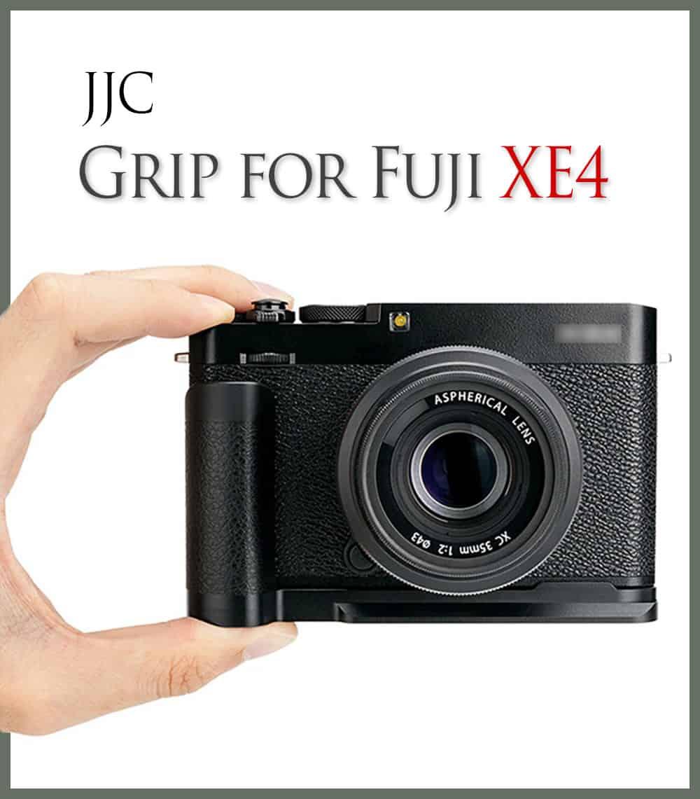 กริป Fuji XE4 จาก JJC HG-XE4 L-Plate Metal Grip