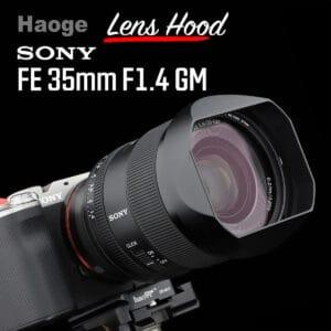 ฮูดเหลี่ยม Sony FE35mm F1.4 GM จาก Haoge Lens Hood LH-E35G